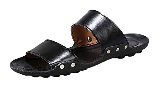 fq-real-new-korean-mens-casual-summer-beach-sandals-black-size-75-uk