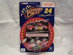 2000 Jeff Gordon #24 Dupont Reverse Rainbow Paint Scheme Charlotte AllStar Race May 2000 1/64 Scale Photo Sticker Edition Lifetime Series Edition Winners Circle - 1