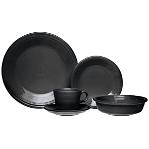 Fiesta 20-Piece, Service for 4 Dinnerware Set, Black