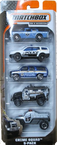 Matchbox 2014 On A Mission: Crime Squad 5-Pack (Police Cars Matchbox compare prices)