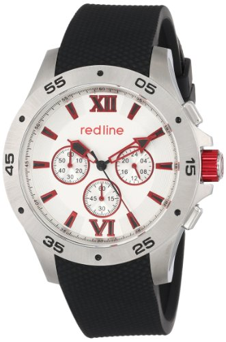 Red Line Spark 60028 46mm Stainless Steel Case Black Rubber Mineral Men's Watch