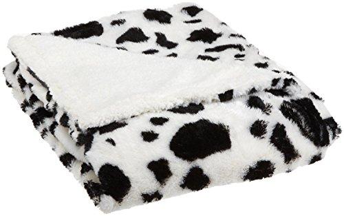 Farm Animal - Cow Print Faux Fur Sherpa Throw Blanket front-893186