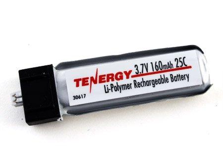 Tenergy 3.7V 160mAh 25C LIPO Battery for Micro Helicopter: e-Flite MSR X/ Parkzone/ Vapor, Cessna / Micro Citabria