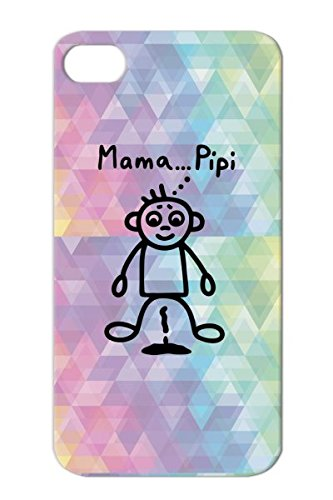 Tpu Toodler Mama... Pipi Pissing Diaper Baby Child Toddler Pee Puddle Bimote Infant Boy Black Cover Case For Iphone 4 Scratch-Resistant