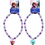 Disney Frozen Beaded Rainbow Necklace with Heart Charm x 2 (1 Each)