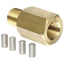 "NOSHOK 1325 Brass Piston Type Pressure Snubber, 1/4"" NPT Male, 6000 psi Pressure Range"