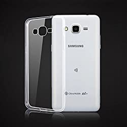 SDO Dotted Finish Ultra Thin Silicone Soft Jelly Case Back Cover for Samsung Galaxy Grand Prime G-530 - Transparent