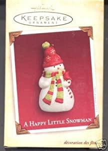 A Happy Snowman 2005 Hallmark Ornament PR3570