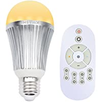 Kmashi 15-watt RGB Color-Changing Wireless E27 LED Light Bulb with Remote