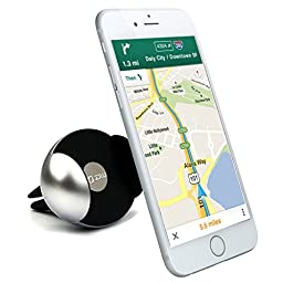Zilu Elite Universal Air Vent Car Phone Mount, Cell Phone Holder for iPhone 6s Plus 6s 5s Samsung Galaxy S7 Edge S6 Edge and More -Retail Packaging