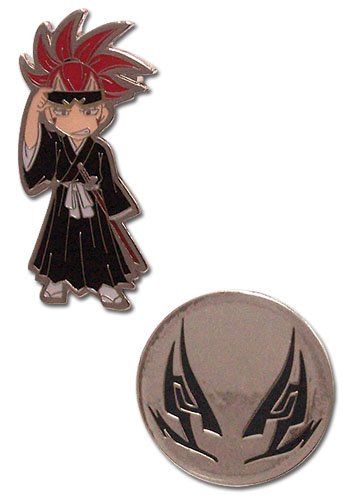 Bleach: Pins - Renji & Tattoo Logo (Set) (Metal)