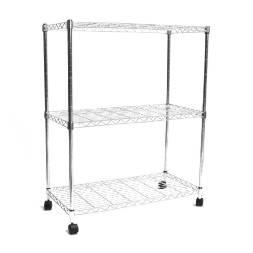 Images for Seville Classics  Home Style Mobile 3-Shelf Storage System, Chrome
