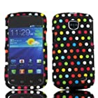 Samsung Rainbow Dots Faceplate Hard Phone Case Cover for Straight Talk Samsung Galaxy Proclaim 720C SCH-S720C
