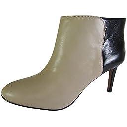 Nine West Women\'s Valid Pull-on Bootie, Light Natural/Black, 7 M US