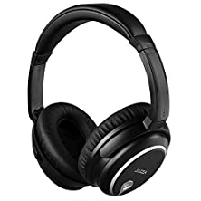 buy Jazza®(Meiego)Anc-J2 Foldable Stereo Active Noise Cancelling Headphones For Cellphone Smartphone Iphone/Ipad/Laptop/Tablet/Computer/Mp3/Mp4/Etc, Strong Bass, Folding And Lightweight Travel Headset (Black)