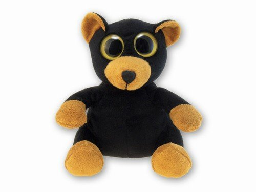 "Puzzled Big Eye Black Bear Plush, 6"" - 1"