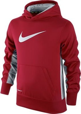 886737636435 UPC - Nike 546157 Knockout Hoody 2 0 Boy's Red/Grey