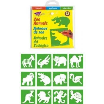 Trend Enterprises Inc. Stencils Zoo Animals