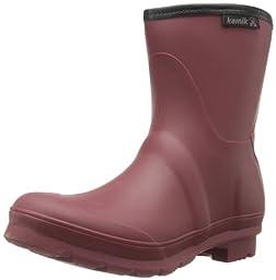 Kamik Women\'s Jenny Low Rain Boot,Burgundy,7 M US