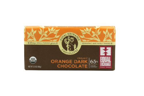 Equal Exchange Organic Orange Dark Chocolate, 3.5-Ounce (Pack Of 6)