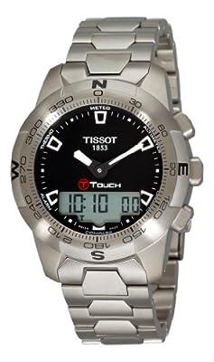 Tissot Men's T0474201105100 T-Touch II Black Digital Multi Function Watch