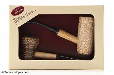 Missouri Meerschaum Corncob Tobacco Pipe Gift Set crafted by Missouri Meerschaum