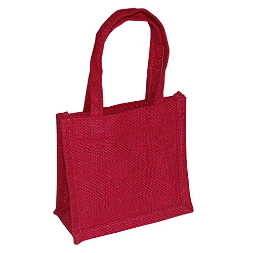 pack-of-x-8-small-mini-jute-gift-bags-13-x-15-x-8-cerise-pink
