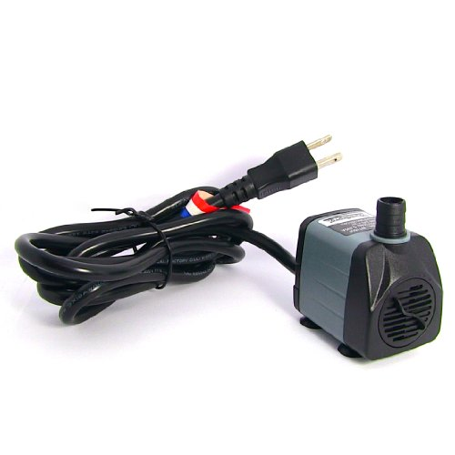 Fountain pro wt160p 160gph submersible fountain pump home for Pond accessories