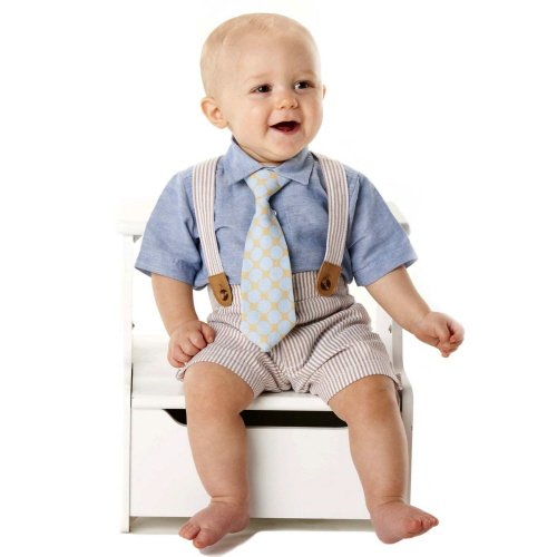 Mud Pie Baby-Boys Newborn Seersucker 3 Piece Set With Tie, Multi-Colored, 12-18 Months front-1078216