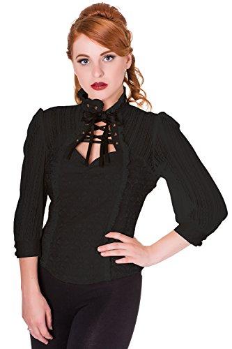 Banned - Camicia -  donna nero X-Large