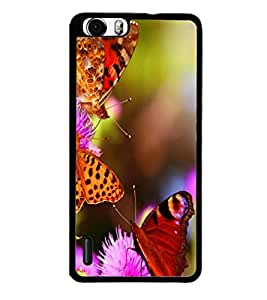 printtech Flower Butterfly Back Case Cover for Huawei Honor 6 Plus