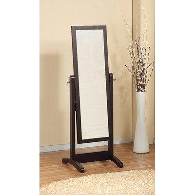 Loft cheval adjustable mirror in rich matte coffee bean for Cheap standing mirror