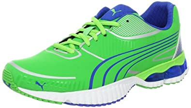 PUMA Men's Braca Running Shoe,Green/Princess Blue/Silver,7 D US