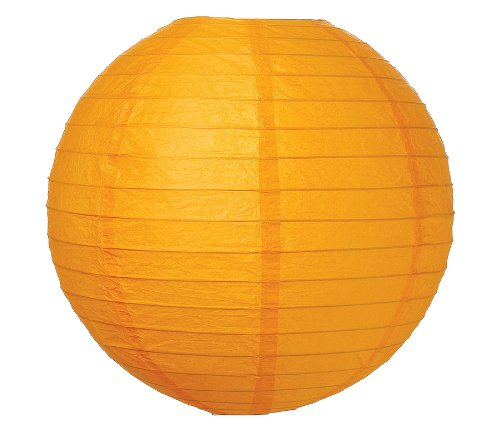 "WeGlow International 12"" Deluxe Paper Lantern - Pumpkin (3 Pieces)"