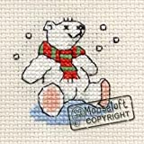 Mouseloft Stitchlet Christmas Card Cross Stitch Kit Polar Bear