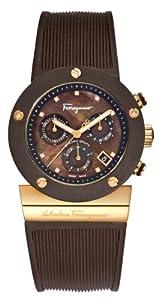 Salvatore Ferragamo Men's F66LCQ5R44 S117 Gancino Sport Brown Mother of Pearl Rubber Watch