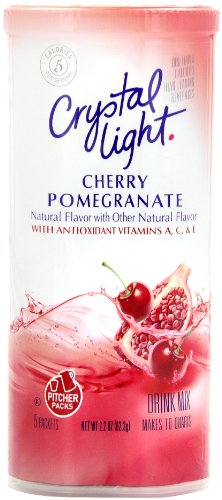 Crystal Light Cherry Pomegranate Drink Mix (10-Quart), 2.2-Ounce Canister (Pack of 4)