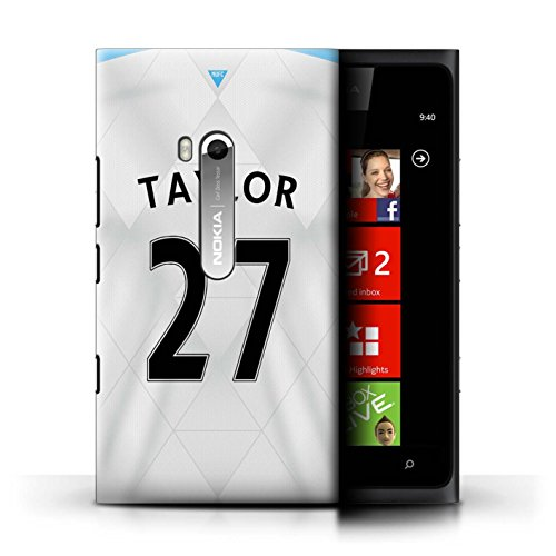 Official Newcastle United FC Phone Case / Cover for Nokia Lumia 900 / Taylor Design / NUFC Away Shirt/Kit 15/16 Collection (Taylor 900 compare prices)