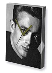 JAMES DEAN - Canvas Clock (LARGE A3 - Signed by the Artist) #js002