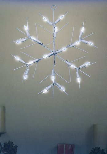 "12"" Battery Operated Led Lighted Snowflake Christmas Window Silhouette"