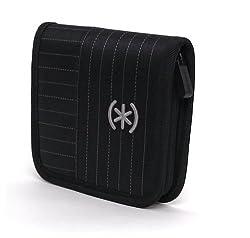 Speck TwoZip Case for Portable Hard Drive Case - SpeakEasy Black Pinstripe (PHD-2Z-PINBK)