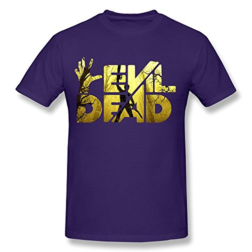 WXTEE Men's Evil Dead 3 Army Of Darkness Tee Purple
