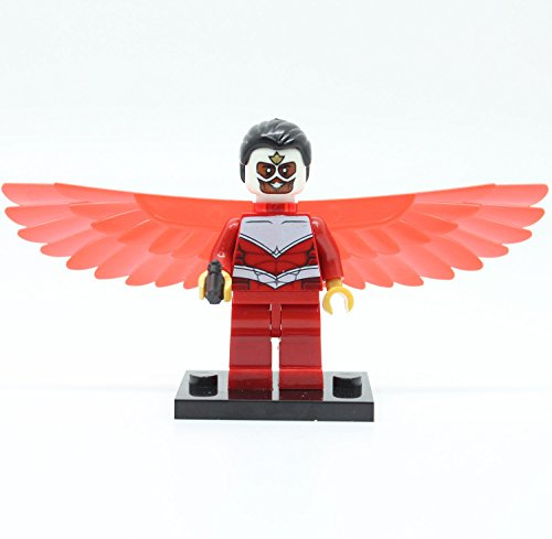 Building Toys Minifigure: Marvel Avengers Mini Figure Falcon Custom