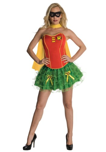 Rubies Womens Dc Comics Robin Flirty Corset Theme Party Halloween Sexy Costume