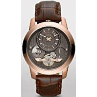 Fossil Grant Twist Leather Watch Brown Me1114 by FOSSIL