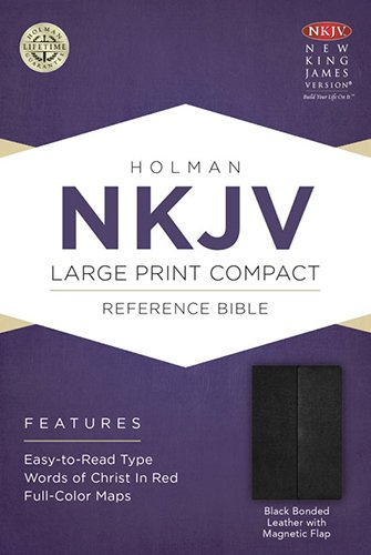 NKJV Large Print Compact Reference Bible, Black Bonded Leather with Magnetic Flap PDF