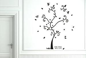 Brinch White Tree Wall Decal,Deer Winter Tree Decals,Brich Tree Decal,White Tree Sticker For Bedroom Decor,Vinyl Deer Tree Wall Sticker from Iiouliyo