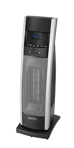B003ZJWJ6Q Holmes BCH9212R-NU Bionaire Remote Control Tower Heater with Remote, Medium, Black