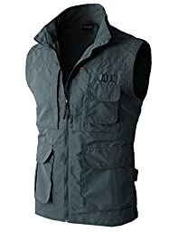 H2H Mens Work Utility Hunting Travels Sports Vest With Multiple Pockets CHARCOAL US L/Asia XL (KMOV081)