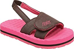 Flojos Infants/Toddlers Slide,Brown/Fuchsia,US 5 M